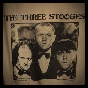 Vintage THE THREE STOOGES quarter length T-shirt